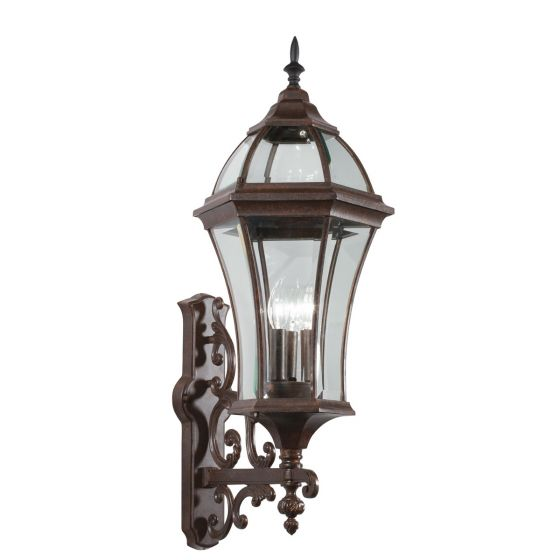 """Kichler Townhouse 3-Light 31"""" Outdoor XLarge Wall in Tannery Bronze"""
