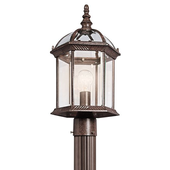"Kichler Barrie 1-Light 18"" Outdoor Post Lantern in Tannery Bronze"