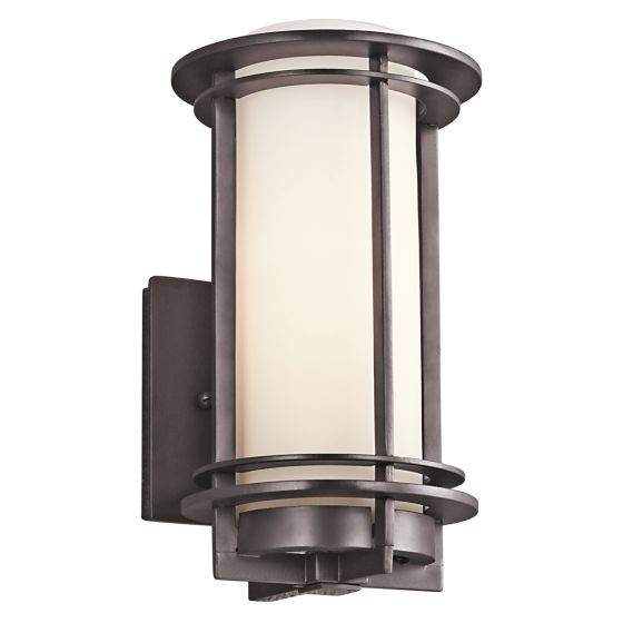 "Kichler Pacific Edge 1-Light 10.75"" Small Outdoor Wall in Bronze"