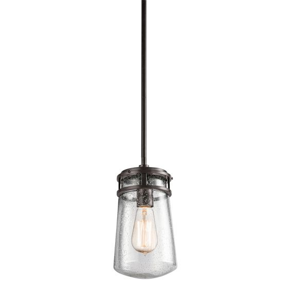 """Kichler Lyndon 6"""" Indoor/Outdoor Hanging Pendant Light in Bronze"""
