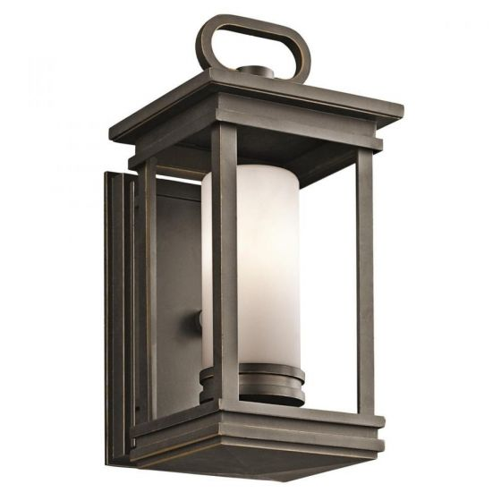 """Kichler South Hope 1-Light 11.75"""" Small Outdoor Wall in Rubbed Bronze"""