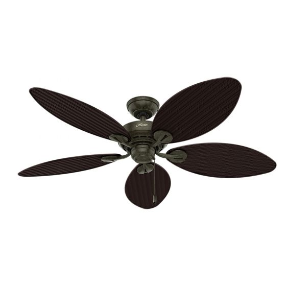 """Hunter Bayview 54"""" Indoor/Outdoor Ceiling Fan in Provencal Gold"""