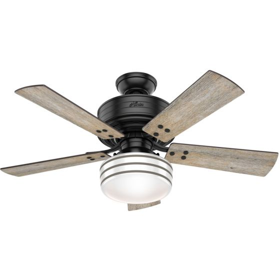 """Hunter Cedar Key 44"""" 1-Light Ceiling Fan in Matte Black"""
