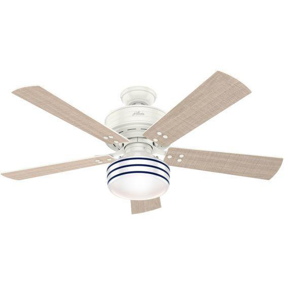 """Hunter Cedar Key 52"""" 1-Light Ceiling Fan in Fresh White"""