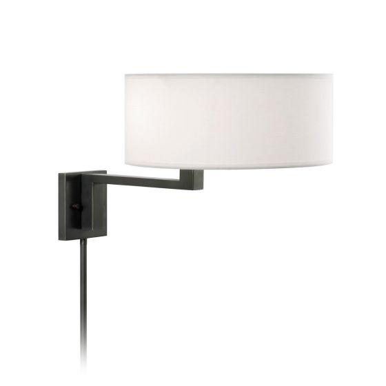 "Sonneman Quadratto 2-Lt 14"" Swing Wall Lamp in Black Finish"