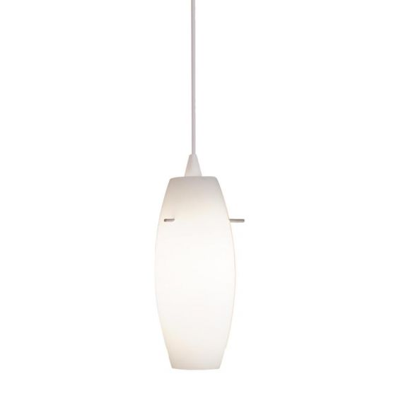 White Pendant Track Lighting: WAC Lighting 120V Bongo 1-Light Line Voltage LED Track