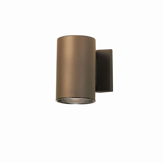 "Kichler Outdoor 1-Light 7"" Small Wall Light in Bronze"