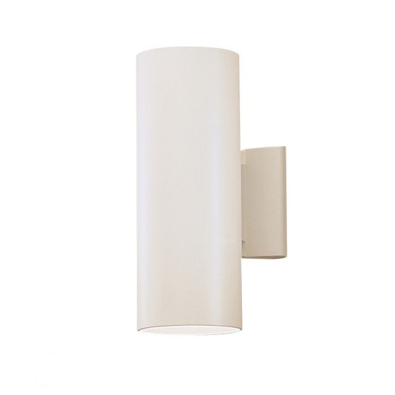"""Kichler Outdoor 2-Light 12"""" Small Wall Light in White"""