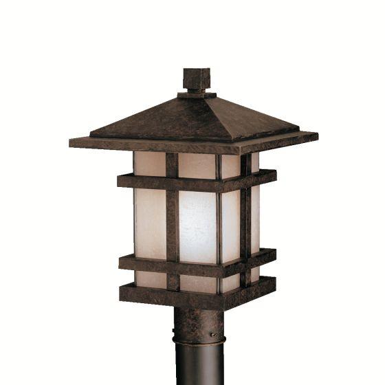 Kichler Cross Creek Outdoor Post Lantern in Aged Bronze
