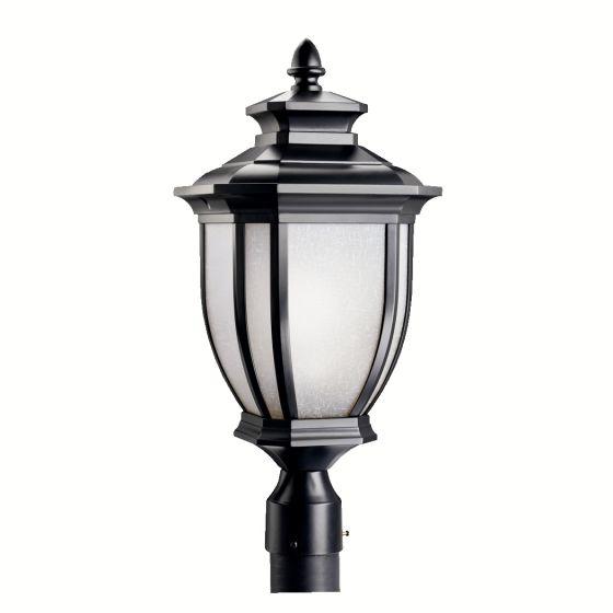 """Kichler Salisbury 1-Light 21.75"""" Outdoor Post Lantern in Black Finish"""