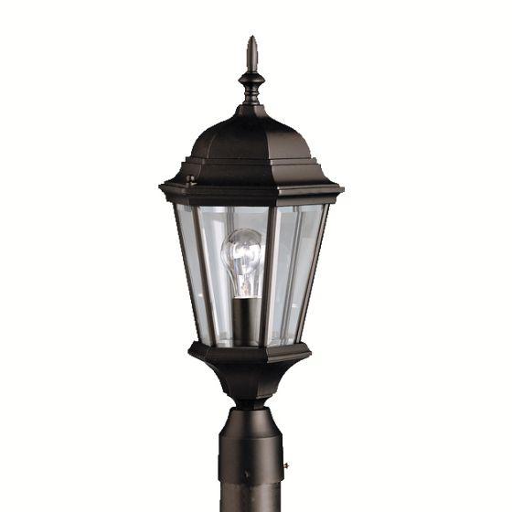 Kichler Madison Outdoor Post Lantern in Black Finish