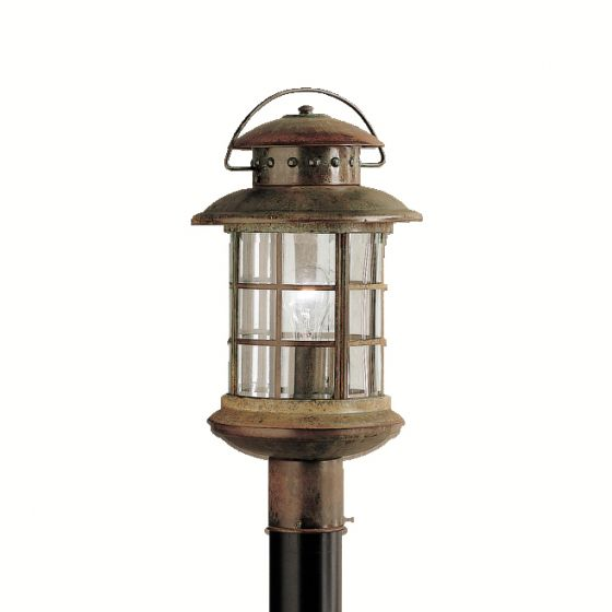"Kichler Rustic 1-Light 18.5"" Outdoor Post Lantern in Rustic"