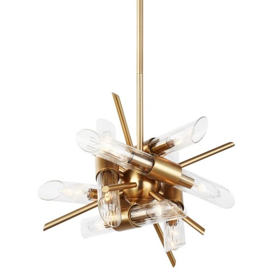 "Murray Feiss Generation Brands: Feiss Quorra 16.75"" 12-Light Clear Fluted Chandelier In"