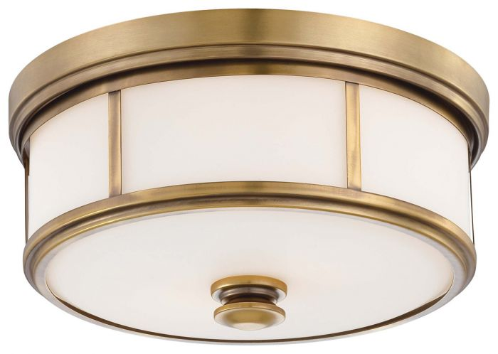 "Minka Lavery Harbour Point 2-Light 14"" Ceiling Light in Liberty Gold"