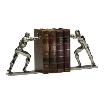 "Cyan Design Iron Man 8.25"" Cast Iron Bookends in Silver (Set of 2)"