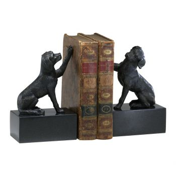 "Cyan Design Dog 8.25"" Iron Bookends in Old World (Set of 2)"