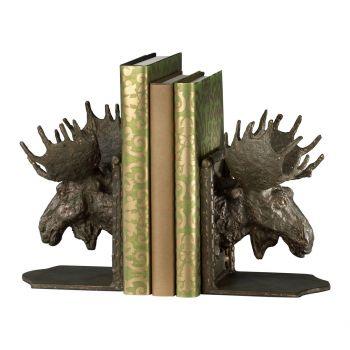 "Cyan Design Moosehead 7.45"" Bookends in Bronze (Set of 2)"