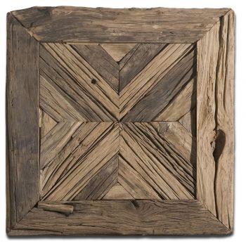 """Uttermost Rennick 21"""" Wall Art in Rustic Pine Wood"""