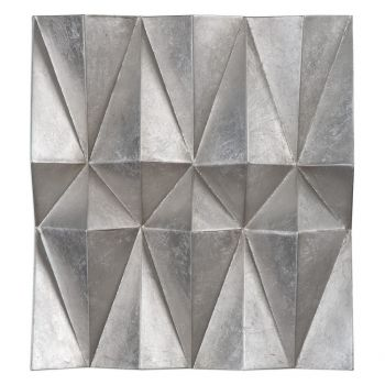 """Uttermost Maxton 22"""" Panels in Champagne Silver Leaf (Set of 3)"""