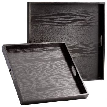 """Cyan Design The James 19.75"""" Trays in Black Limed"""