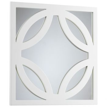 "Cyan Design Brodax 23.5"" Mirror in White Lacquer"