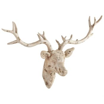 """Cyan Design Open Antler 33"""" Wall Decor in Antique French White"""