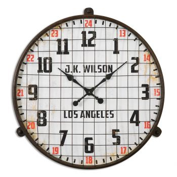 Uttermost Max Wall Clock in Rust Brown