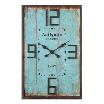 """Uttermost Antiquite 35.75"""" Wall Clock in Aged Blue"""