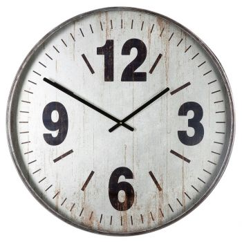 """Uttermost Marino 30.25"""" Wall Clock in Brushed Silver"""