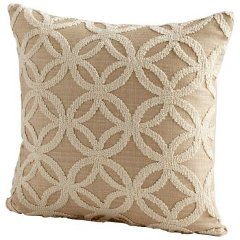 "Cyan Design Circle Of Life 18"" Pillow in Taupe"
