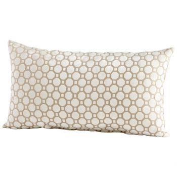 "Cyan Design Raindrops Keep Falling 24"" Pillow in Taupe"