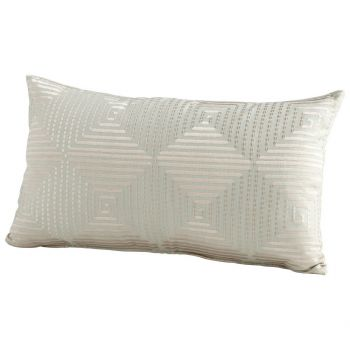 "Cyan Design Harlequin Shine 24"" Pillow in Sage Green"
