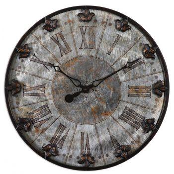 "Uttermost Artemis 24"" Wall Clock in Oil Rubbed Bronze"