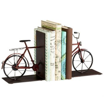 "Cyan Design Pedal 8"" Bookends in Multi Colored"