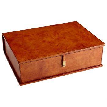 "Cyan Design Carl 14.5"" Container in Tan"