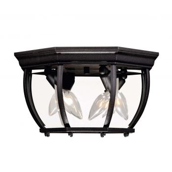 "Savoy House Exterior Collections 7"" Flush Mount in Black"