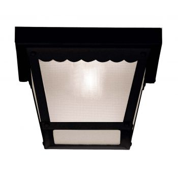 "Savoy House Exterior Collections 6"" Flush Mount in Black"