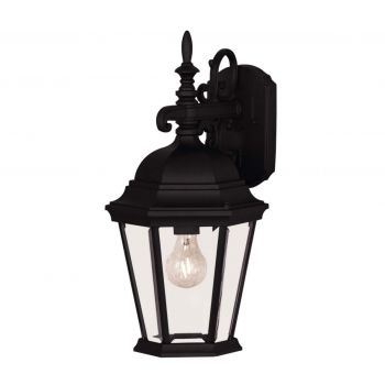 """Savoy House Exterior Collections 18"""" 1-Light Wall Lantern in Black"""