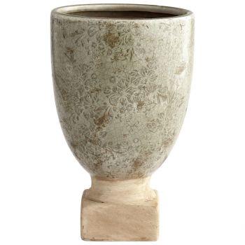 "Cyan Design Govea 11.5"" Planter in Olive Glaze"