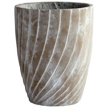 "Cyan Design Maximus 16"" Cement Planter in Brown"