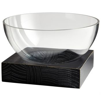 "Cyan Design Clara 9.75"" Bowl in Clear"