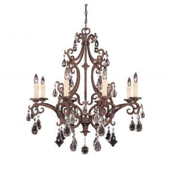 Savoy House Florence 8-Light Chandelier in New Tortoise Shell