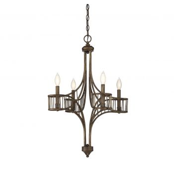 Savoy House Licton 4-Light Chandelier in Guilded Bronze