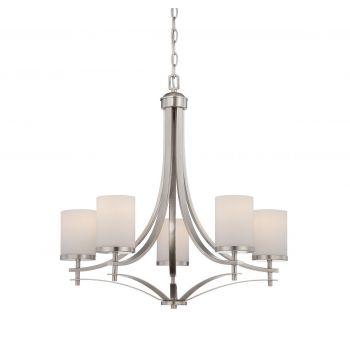 Savoy House Colton 5-Light Chandelier in Satin Nickel