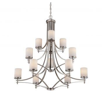 Savoy House Colton 12-Light Chandelier in Satin Nickel