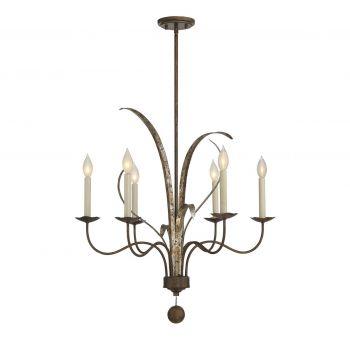 Savoy House Mandolin 6-Light Chandelier in Fiesta Bronze