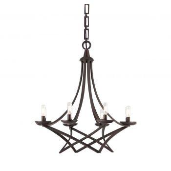 Savoy House Windsung 8-Light Chandelier in English Bronze