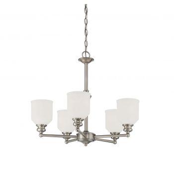 Savoy House Melrose 5-Light Chandelier in Satin Nickel