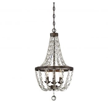 Chandelier sale up to 70 off select items lightsonline savoy house 3 light mini chandelier in oiled burnished bronze aloadofball Image collections
