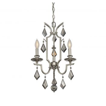 Savoy House 3-Light Mini Chandelier in Polished Nickel